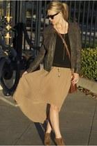 tan threadsence skirt - dark gray Nordstrom jacket