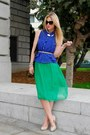 Green-vintage-dress-navy-gucci-bag-blue-anarchy-st-top