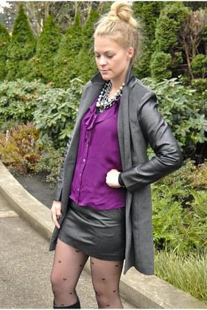 amethyst Tibi blouse - black Forever21 jacket - black Zara skirt