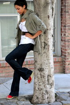 navy Earnest Sewn jeans - olive green Forever 21 jacket - white 2B shirt