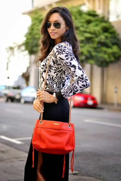 black maxi skirt asos skirt - white cropped asos sweater