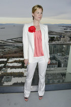 white Zara blazer - white The Limited pants - red kate spade accessories