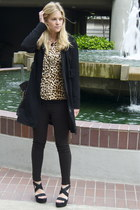 camel Forever21 shirt - black shoshana coat - dark gray JBrand pants