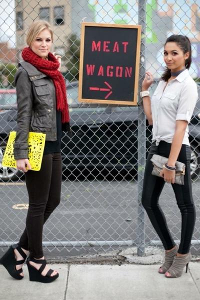 yellow asos bag - dark brown Nodstrom jacket - black H&M leggings
