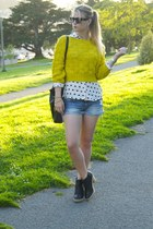 yellow Tobi sweater - ivory asos blouse