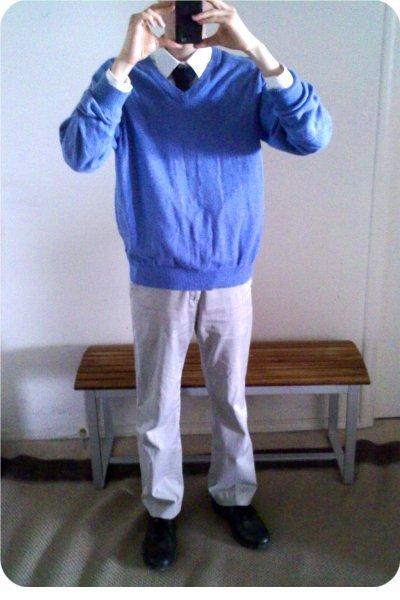 Gap pants - H&M tie - shirt - Dexter shoes - Gap sweater