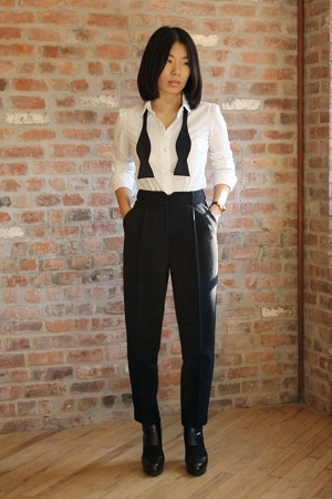 31 phillip lim lim pants - Uniqlo shirt - steven alan tie