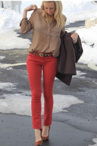 Zara shoes - Rich & Skinny jeans - vintage belt