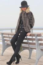 vintage coat - Forever21 jeans