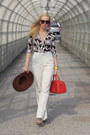 American-apparel-hat-louis-vuitton-bag-white-h-m-pants