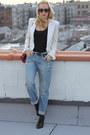 Boyfriend-jeans-h-m-jeans-abs-blazer-vintage-chanel-bag
