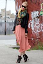 Dolce Vita shoes - Lucky Brand scarf - Karen Walker sunglasses - H&M skirt