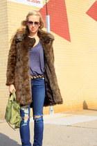 Zara jacket - J Brand jeans - vintage belt - balenciaga