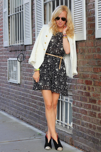 asos dress - Zara boots - Zara blazer - Ray Ban sunglasses