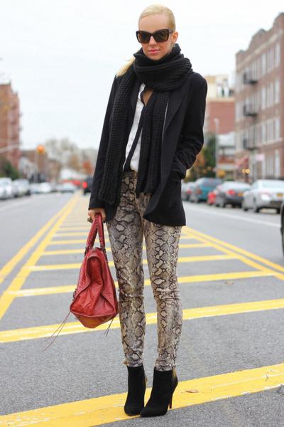 Zara boots - balenciaga bag - Zara pants