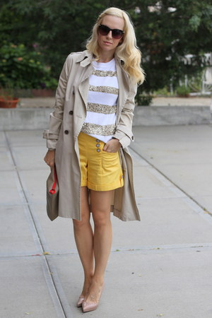 Christian Louboutin shoes - Zara jacket - J Crew sweater - Macys shorts
