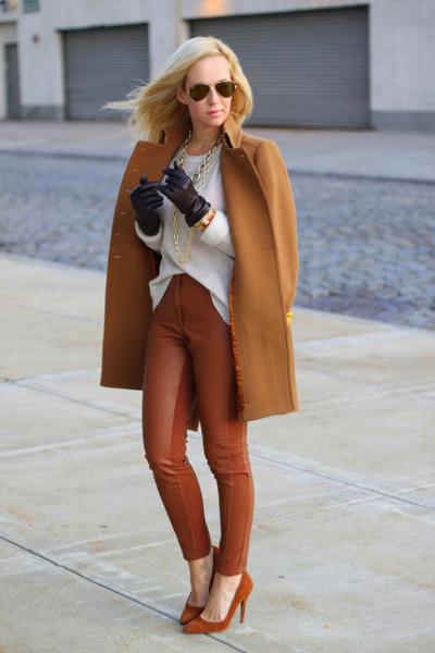 J Crew coat - Zara sweater - Ray Ban sunglasses - H&M pants