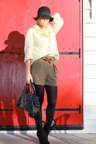 black asos shoes - black Zara shorts - balenciaga bag