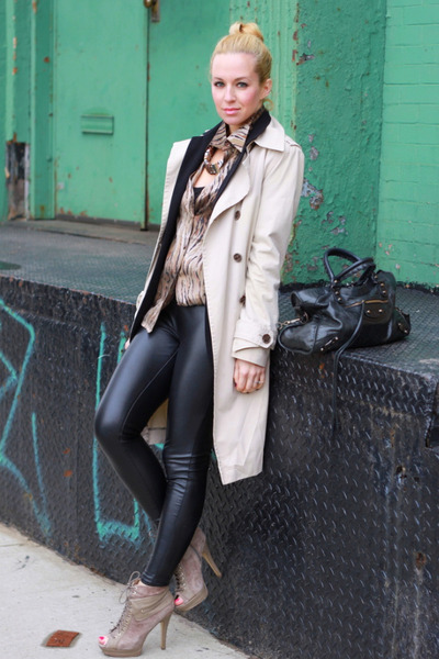 matty m blazer - Zara coat - Equipment top - Michael Kors pants
