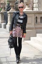 striped Zara shirt - H&M skirt