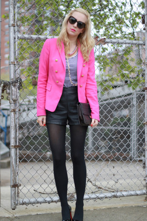 Forever 21 shorts - Christian Louboutin shoes - Zara blazer