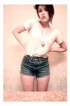 light blue Gap shorts - light pink Charlotte Russe t-shirt