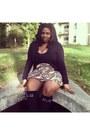 Black-lazy-oaf-socks-asos-skirt-black-american-apparel-bodysuit
