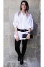 Melissa-boots-shirt-tights-belt-wallet