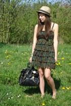 chiffon H&M dress - leather asos bag
