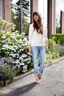 Blue-boyfriend-jeans-vila-jeans-neutral-sweater-vila-sweater