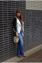 black black-white we jacket - blue seventies Diesel jeans