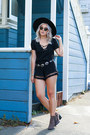 Buffalo-exchange-hat-pom-pom-tassel-boohoo-shorts-lace-up-topshelf-top