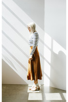 Suede Skirt skirt - Stripe Lace-Up top top