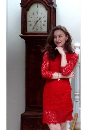 red H&M dress