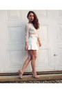 Light-pink-new-look-shoes-white-h-m-top-white-h-m-skirt