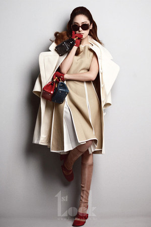 Prada coat - Prada Bi-Color suede Mary Jane boots - Prada gloves