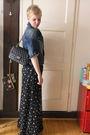 Black-chanel-purse-blue-vintage-pants-blue-diesel-jacket