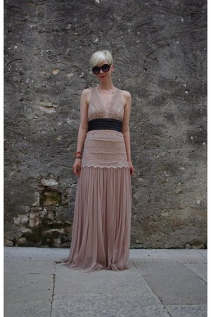lace tulle Zara dress - asos sunglasses - DIY bracelet