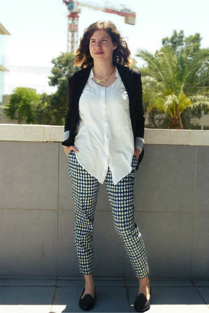 Chicwish shirt - printed pants H&M pants - alexa loafers Michal Miller loafers