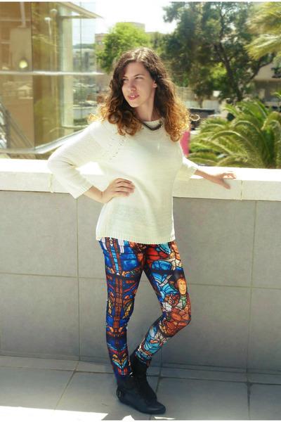 H&M sweater - romwe leggings