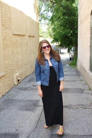 black Romwecom dress - blue Macys jacket