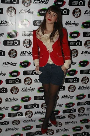 Bershka blazer - Cavalli shirt - jeans Zara shorts - Tommy Hilfiger heels