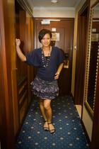 Newlook blouse - Bershka top - Newlook skirt - Vincci - Newlook necklace