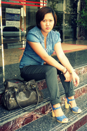Zara blouse - Forever 21 top - Newlook pants - Newlook shoes - Nine West bag