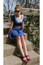 vintage dress - vintage earrings - UrbanOG flats