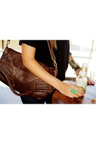 brown leather foley  corinna bag