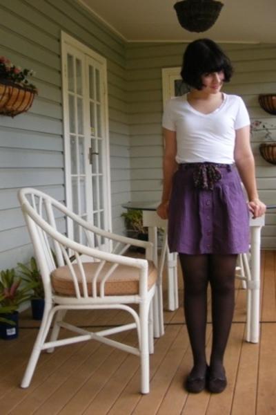 Target Australia t-shirt - Mombasa skirt - Myer tights - Sandler shoes