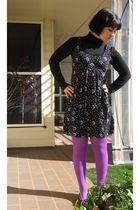 unknown brand tights - Target Australia shirt - Myer Australia dress - Love & Jo