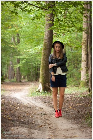 H&M hat - romwe jacket - Vila top - Pimkie pants