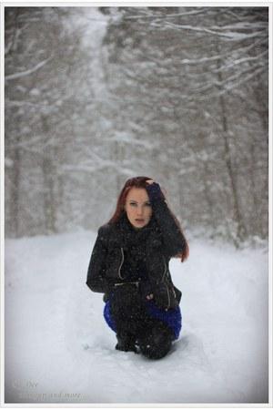 black Zara jacket - pull&bear scarf